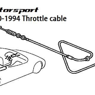 Throttle cable - 1990-1994 LHD