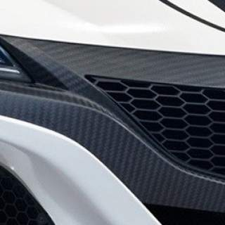 Carbon front grill