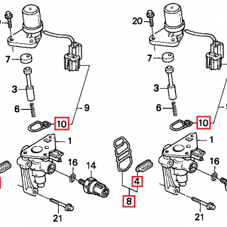 V-Tec solenoid seal kit