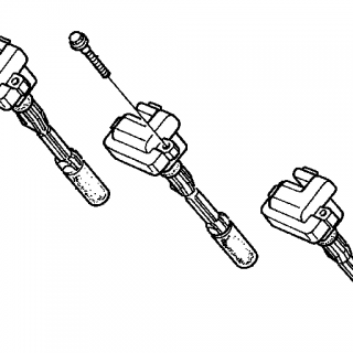 Ignition coil set 3pcs (OBD1)