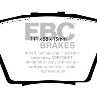 Rear Track Performance brakepads