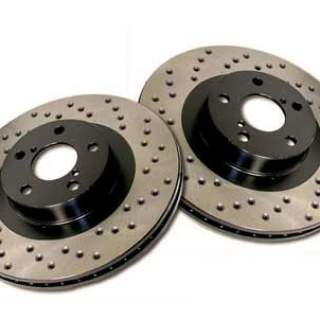 90-96 Drilled rear brakediscs